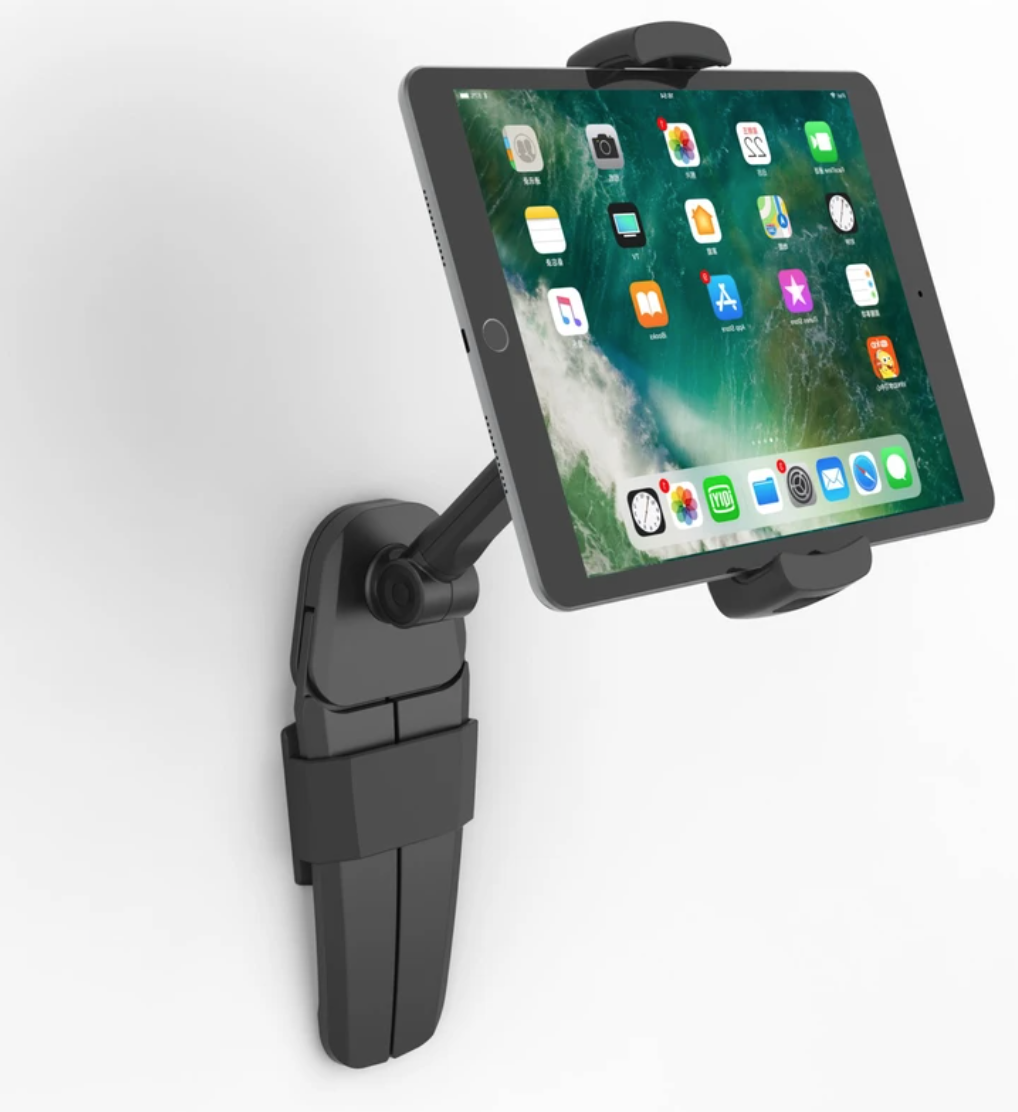 XCD Multi-Function Tablet Holder secured in a wall-mount.
